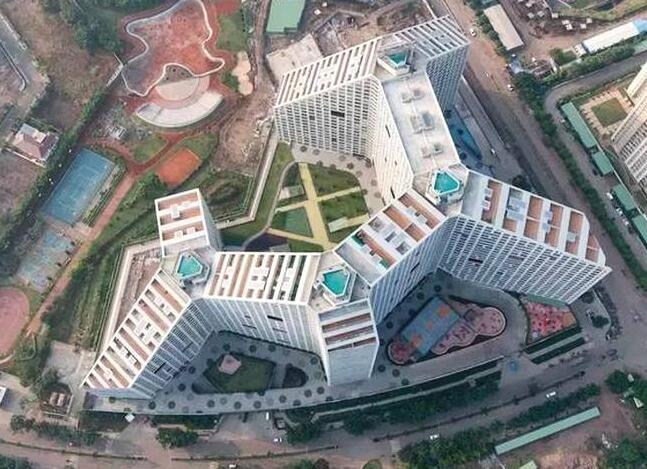 印度盖了栋公寓 竟有一千多户 能住下整村人
